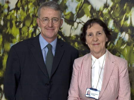 Hilary Benn and Patricia Moberly