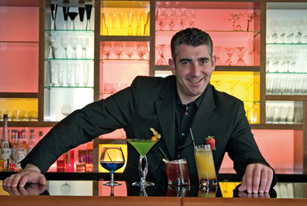 Fabio Fraticelli with his mayoral cocktails