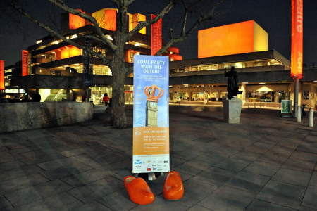 National Theatre turns orange to promote Dutch Queen's Day