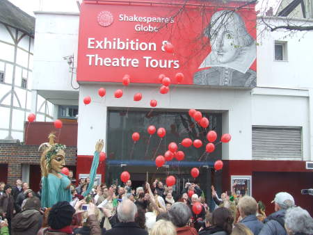 Shakespeare's Globe celebrates Bard's 444th birthday