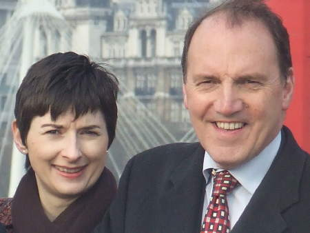 Cllr Caroline Pidgeon with Simon Hughes MP