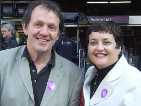 Val Shawcross and Kevin Whately