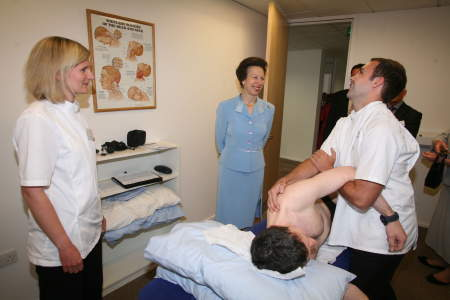 Princess Royal opens British School of Osteopathy's new clinic