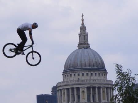 Mountain biking on Bankside