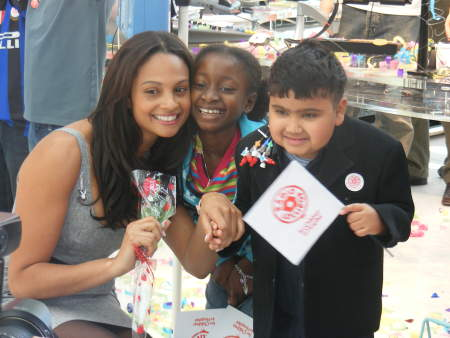 Alesha Dixon launches radio station at children's hospital