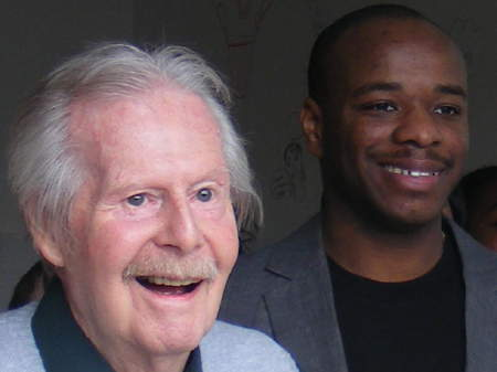 Tony Hart and Stephen Wiltshire at Art House