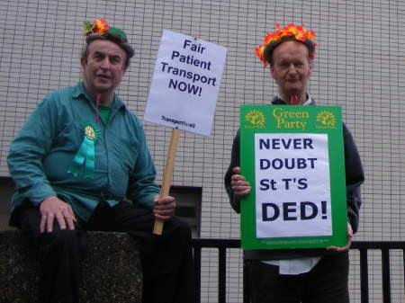 Disabled patients picket hospital open day