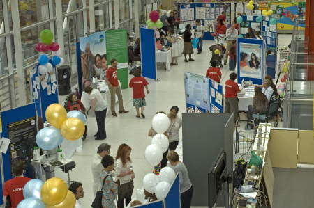 Open day stalls in the Evelina Children's Hospital