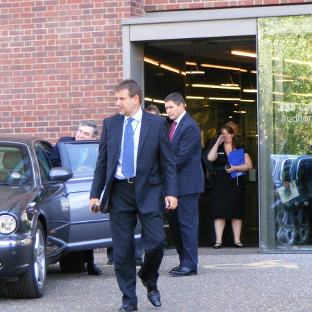 Gordon Brown leaving Tate Modern on Thursday