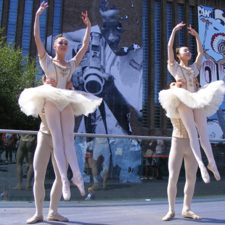 Members of English National Ballet outside Tate Mo
