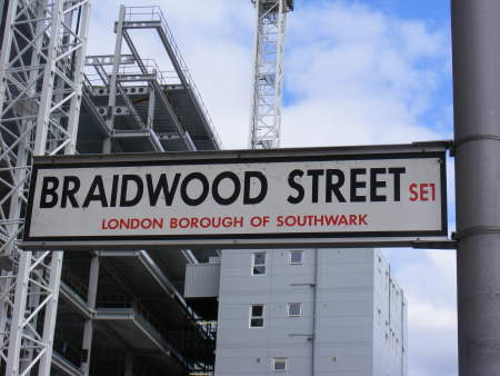 Braidwood Street is the service entrance to the Mo