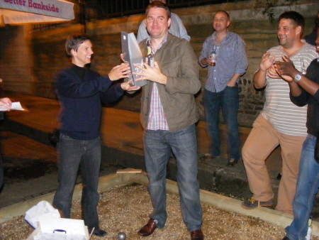 Globe Business Publishing are Bankside boules champions