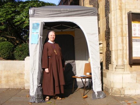 'Nun in a Tent' at Southwark Cathedral