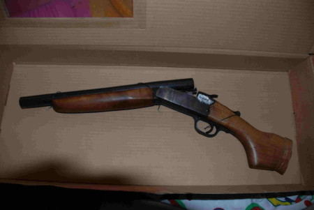 sentenced to five years in jail for possession of a sawn-off shotgun and