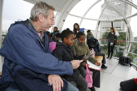 Michael Rosen on the London Eye