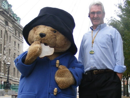 Paddington Bear and Raymond Levy in Belevedere Roa