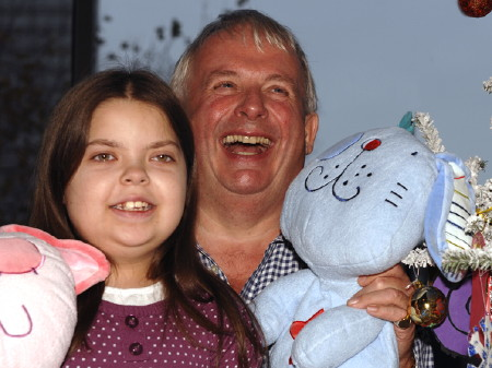 Christopher Biggins and Marieka Carling, aged 12 y