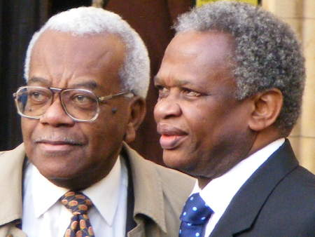 Sir Trevor McDonald and Richard Taylor