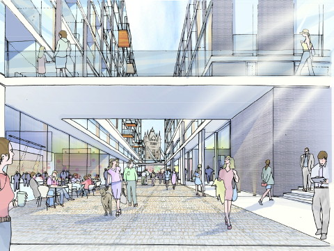A new shopping street will link Tooley Street with