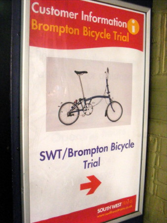 Folding bike hire service for Waterloo commuters
