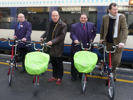 Brompton launch at Waterloo