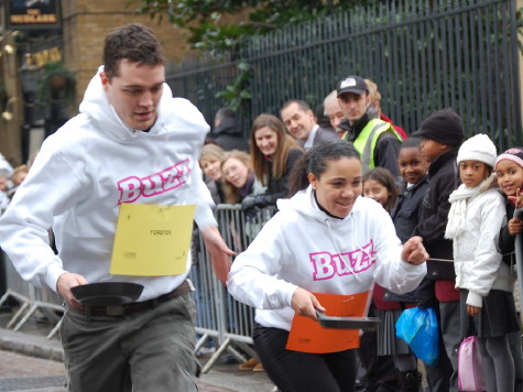 Bankside pancake race