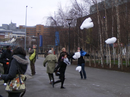'Happy Clouds' float above Bankside