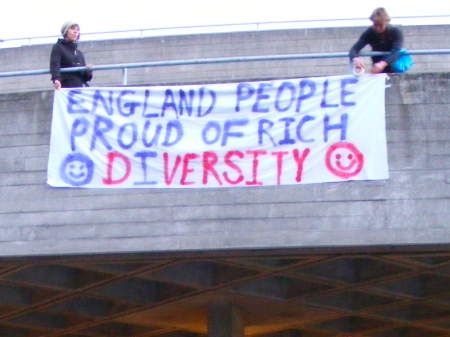 South Bank demo at National Theatre over 'racist' play