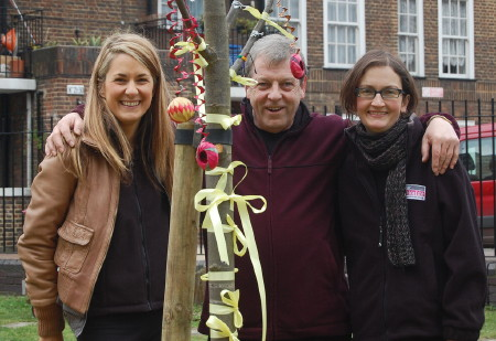 11 new trees planted on Bankside housing estate