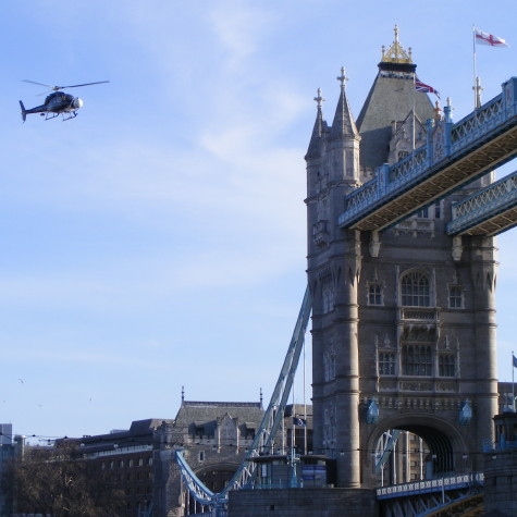Sherlock Holmes movie filming at Tower Bridge
