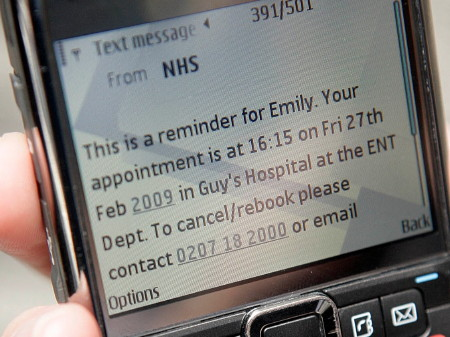 Text message reminders for forgetful Guy's and St Thomas' patients