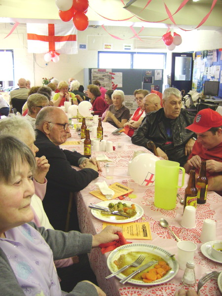 St George's Day lunch at Blackfriars Settlement