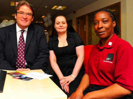 Tony McNulty meets jobseekers at Waterloo Job Shop