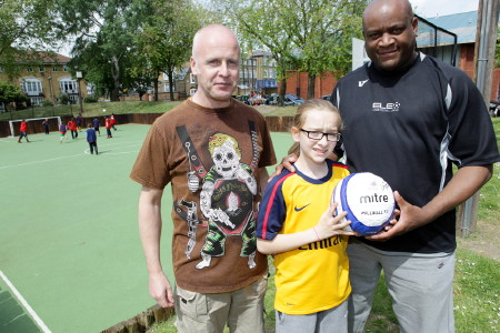 Kick off for revamped football pitch on Swan Mead Estate