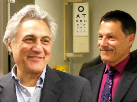 John Suchet with David Halliday from RLSB