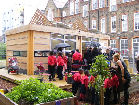 Borough school's new garden and eco canopy