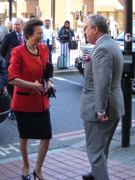 Princess Royal arriving at Mitre House