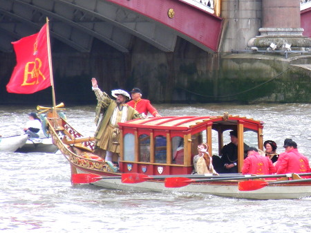 Henry VIII takes to the Thames for Tudor River Pageant