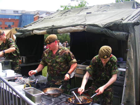 Army field kitchen