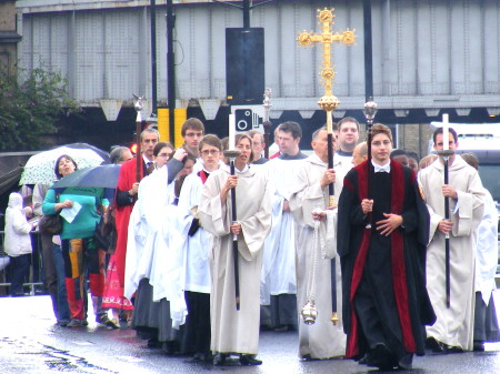 Procession from Southwark Cathedral