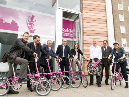 Pink folding bicycles available to Bankside businesses