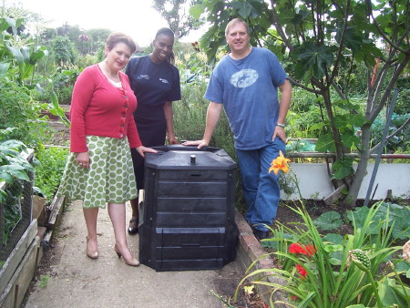 Bermondsey plot-holders get composting for National Allotment Week