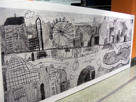 Local children's depiction of Elephant & Castle goes on show