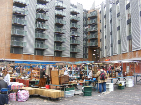 Bermondsey Antiques Market in September 2008