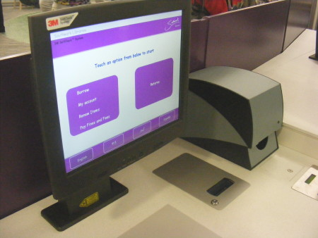 Self-service book issuing machines