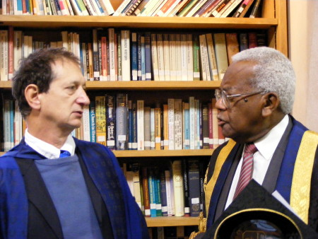 David Lan and Sir Trevor McDonald
