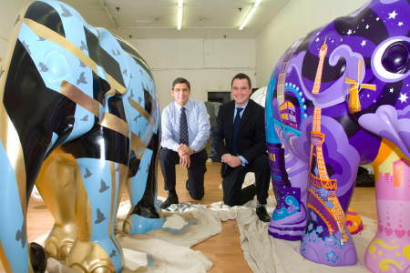 Colourful elephant parade comes to shopping centre