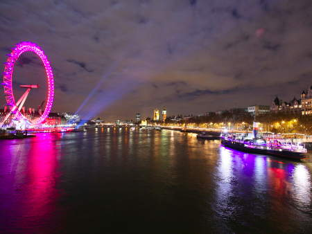 Pictures: New Year fireworks at London Eye