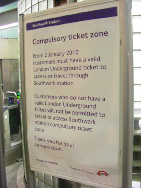 Oyster pay as you go: what does it mean for Southwark and Waterloo East passengers?