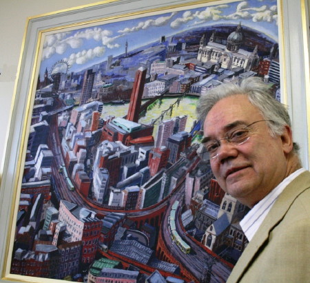 Artist Francis Farmar donates Bankside painting to Guy's Hospital